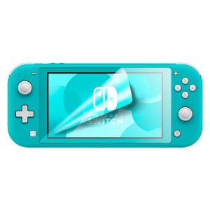 Keep your Nintendo Switch Lite screen in pristine condition with this Olixar scratch-resistant screen protector 2-in-1 pack.