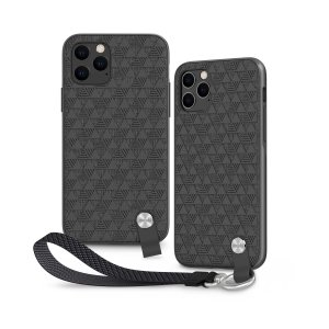 Protect your iPhone 11 Pro with this stylish slim case from Moshi. This case features a detachable wrist strap to open a new world of hands-free convenience. A textured pattern improves grip and the case is compatible with Moshi's SnapTo mounting system.