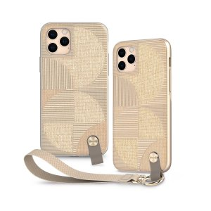 Protect your iPhone 11 Pro with this stylish slim case from Moshi in Sahara Beige featuring a detachable wrist strap to add hands-free convenience. A textured pattern improves grip and the case is compatible with Moshi's SnapTo mounting system.