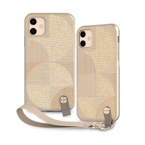 Protect your iPhone 11 with this stylish slim case from Moshi in Sahara Beige featuring a detachable wrist strap to open a new world of hands-free convenience. A textured pattern improves grip, creating a luxurious feel and providing ultimate protection.