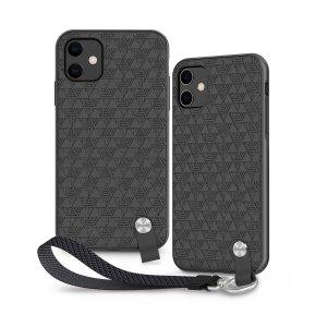 Protégez votre iPhone 11 des chocs et des dommages accidentels avec la coque Moshi Altra en coloris noir sombre. Robuste et élégante, elle est livrée avec une dragonne amovible pour une sécurité maximale. Son revêtement texturé luxueux améliore la prise en main de votre téléphone.