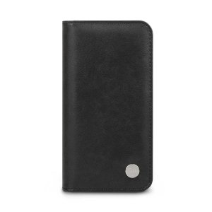 Moshi Overture iPhone 11 Pro Premium Leather Wallet Case - Jet Black