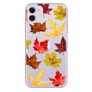 Give your iPhone 11 a new look for Autumn Winter with this leaves case from LoveCases. Cute but protective, the ultrathin case provides slim fitting and durable protection against life's little accidents.