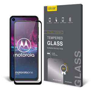 This ultra-thin tempered glass screen protector for the Motorola One Action from Olixar offers toughness, high visibility and sensitivity all in one package.