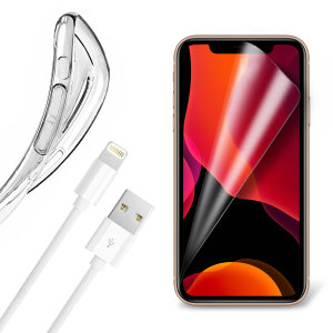 Olixar Essential iPhone 11 Pro Case, Screen Protector & Cable Pack