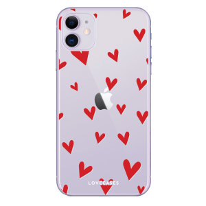 Take your iPhone 11 to the next level with this hearts design phone case from LoveCases. Cute but protective, the ultrathin case provides slim fitting and durable protection against life's little accidents.