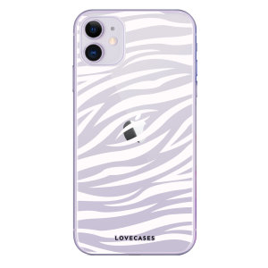 Take your iPhone 11 to the wild side with this zebra print phone case from LoveCases. Cute but protective, the ultra-thin case provides slim fitting and durable protection against life's little accidents.