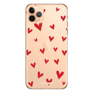 Take your iPhone 11 Pro Max to the next level with this hearts design phone case from LoveCases. Cute but protective, the ultrathin case provides slim fitting and durable protection against life's little accidents.