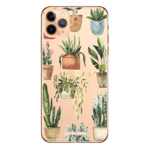 Coque iPhone 11 Pro Max LoveCases Plantes – Transparent