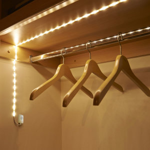 The ideal accessory for any smart home, this 1m strip of bright rechargeable LED lights from AGL use a clever sensor to detect motion from up to 2m away. Bring light to your wardrobe, shed, or under your bed - everything is illuminated, no wires required.