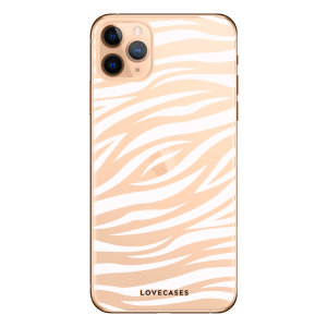 Coque iPhone 11 Pro Max LoveCases Zèbre – Transparent / blanc