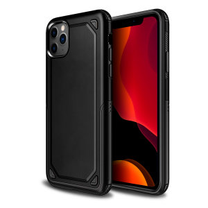 Protect your iPhone 11 Pro from bumps, scrapes and drops with the Fortis case in black from Olixar. Featuring a protective hybrid design with an inner TPU section and an outer impact-resistant exoskeleton.
