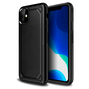 Protect your iPhone 11 from bumps, scrapes and drops with the Fortis case in black from Olixar. Featuring a protective hybrid design with an inner TPU section and an outer impact-resistant exoskeleton.