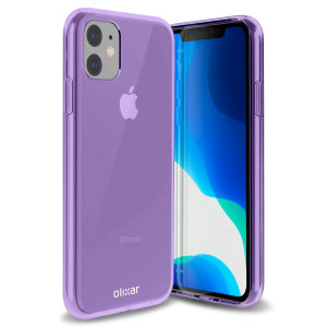 Custom moulded for the iPhone 11, this purple FlexiShield gel case from Olixar provides excellent protection against damage as well as a slimline fit for added convenience.