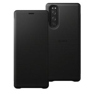 Protégez l'intégralité de votre Sony Xperia 5 avec la nouvelle housse officielle Sony Style Leather Cover en cuir noir. Mince et élégante, elle protège complètement votre téléphone des rayures et des chocs tout en conservant son look moderne et sophistiqué. Une housse de protection haut de gamme idéale.