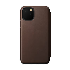 Designed to give your iPhone 11 Pro Max a classic, yet bold new look. This Rustic Brown, minimalist Rugged Folio Case is built with Horween leather from one of America's oldest tanneries.