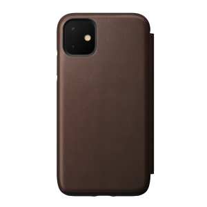 Designed to give your iPhone 11 a classic, yet bold new look. This Rustic Brown, minimalist Rugged Folio Case is built with Horween leather from one of America's oldest tanneries.