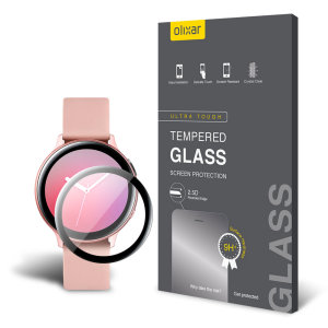 This ultra-thin tempered glass screen protector for the Samsung Galaxy Watch Active 2 smartwatch 40mm from Olixar offers toughness, high visibility and sensitivity all in one package.