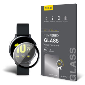 This ultra-thin tempered glass screen protector for the Samsung Galaxy Watch Active 2 44mm from Olixar offers toughness, high visibility and sensitivity all in one package.