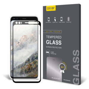 Olixar Google Pixel 4 Tempered Glass Screen Protector - Black