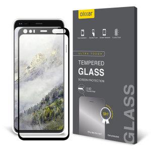 Deze gehard glazen screenprotector voor de Google Pixel 4 XL van Olixar biedt taaiheid, hoge zichtbaarheid en gevoeligheid in één pakket.