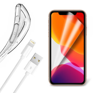 Olixar Essential iPhone 11 Pro Max Case, Screen Protector & Cable Pack