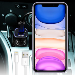 Keep your Apple iPhone 11 fully charged on the road with this high power dual USB 3.1A Car Charger with an included high quality 1m Lightning cable