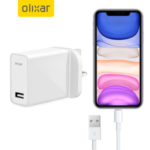Charge your iPhone 11 and any other USB device quickly and conveniently with this compatible 2.5A high power Lightning charging kit. Featuring a UK wall adapter and Lightning cable.