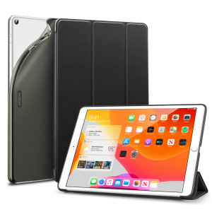 "Protect your iPad 10.2"" 2019 and iPad 10.2"" 2020 with this supremely functional Black case with viewing stand feature. Also features smart sleep / wake functionality."
