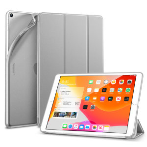 "Protect your iPad 10.2"" 2019/2020 with this supremely functional Silver case with viewing stand feature. Also features smart sleep / wake functionality."