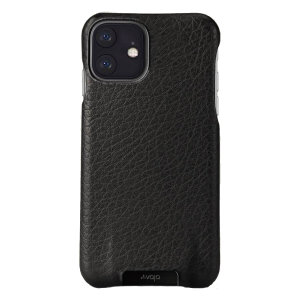 Vaja Grip iPhone 11 Premium Leather Case - Black