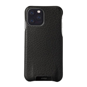 Treat your iPhone 11 Pro to exquisite handmade craftsmanship and the highest quality materials. Featuring genuine Floater and Caterina leather, the Vaja Grip premium leather shell case in black is something very special indeed.