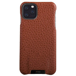 Vaja Grip iPhone 11 Pro Max Premium Leather Case - Tan
