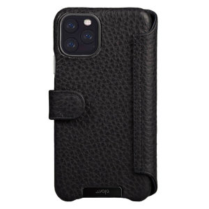 Vaja iPhone 11 Pro Max Premium Leather Wallet Case - Black