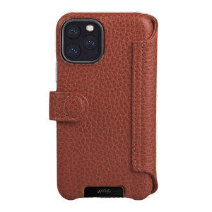 Vaja iPhone 11 Pro Max Premium Leather Wallet Case - Tan