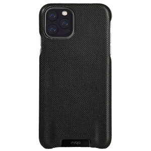 Vaja Grip iPhone 11 Pro Max Premium Leather Case - Pointille Black