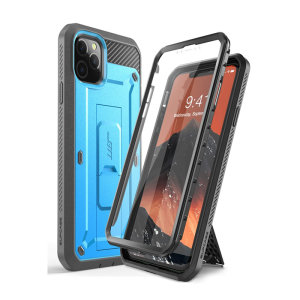 The thinnest, strongest, most rugged case in the industry, the UB Pro in Blue for iPhone 11 Pro Max has survived 30-foot drops, gunshots, and wipeouts. With 360° flexible TPU, a built-in kickstand, and complete protection this case is the one.
