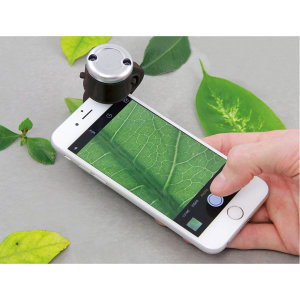 This smartphone microscope captures clear images from microscopic organs for fun and educational purpose. This is a new way of looking at the new technological world.