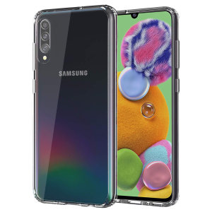 Custom moulded for the Samsung Galaxy A90 5G. This clear Olixar ExoShield tough case provides a slim fitting stylish design and reinforced corner shock protection against damage, keeping your device looking great at all times.