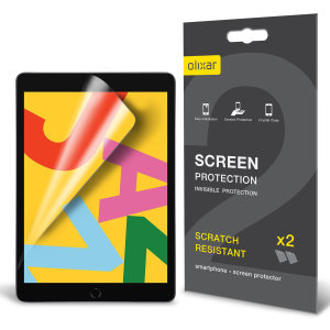 "Keep your iPad 10.2"" 2019 screen in pristine condition with this Olixar scratch-resistant screen protector 2-in-1 pack. Ultra responsive and easy to apply, these screen protectors are the ideal way to keep your display looking brand new."