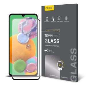 Deze gehard glazen screenprotector voor de Samsung Galaxy A90 5G van Olixar biedt taaiheid, hoge zichtbaarheid en gevoeligheid in één pakket.