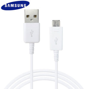 Chargez votre Samsung Galaxy S7 Edge et transférez vos fichiers depuis ou vers n'importe quel ordinateur avec le câble de chargement Micro USB officiel Samsung en coloris blanc. Cet accessoire officiel Samsung est fabriqué selon les normes les plus strictes et à partir de matériaux de la plus haute qualité.