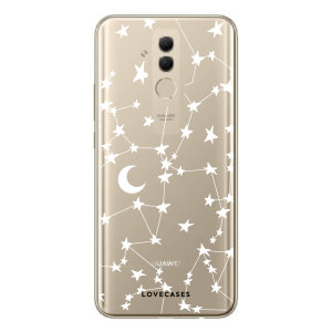 LoveCases Huawei Mate 20 Lite Gel Case - White Stars And Moons