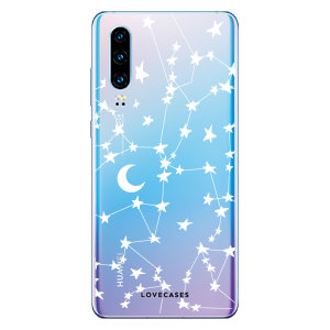 LoveCases Huawei P30 Gel Case - White Stars And Moons