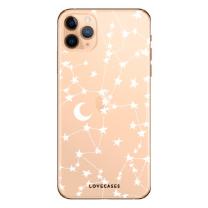 Give your iPhone 11 Pro Max a cute new look with this stars & moons design phone case from LoveCases. Cute but protective, the ultra-thin case provides slim fitting and durable protection against life's little accidents.