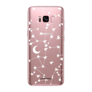 LoveCases Samsung Galaxy S8 Plus Gel Case - White Stars And Moons