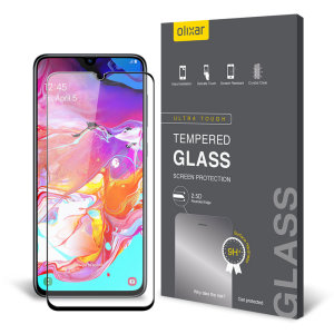 This ultra-thin tempered glass screen protector for the Samsung Galaxy A70s from Olixar offers toughness, high visibility and sensitivity all in one package.