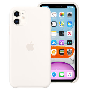 Designed by Apple to complement iPhone 11, the form of this white silicone case fits snugly over the volume buttons, side button and curves of your device without adding bulk whilst providing extra protection for your iPhone 11.