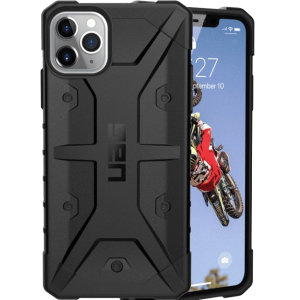 The UAG Pathfinder Case in Black for the iPhone 11 Pro Max features a classic tough-looking, composite design with a soft impact-absorbing core and hard exterior that provides superb protection in all situations.