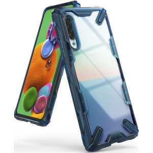 Keep your Samsung Galaxy A90 5G protected from bumps & drops with the Ringke Fusion X tough case in Space Blue. Featuring a 2-part, Poly-carbonate design, this case lives up to military drop-test standards so you can rest assured that your device is safe.